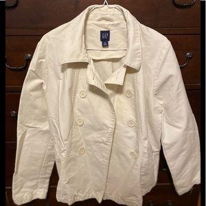 GAP cream pea coat XL